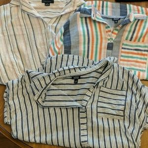 Bundle of 3 Stripey Button-Ups!